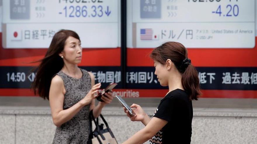 La Bolsa de Tokio abre con un descenso del 0,34 % hasta los 19.542,77 puntos