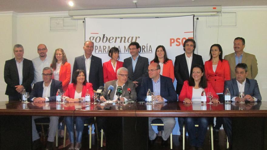En la imagen, presentación de los candidatos del PSOE. Foto: LUZ RODRÍGUEZ.
