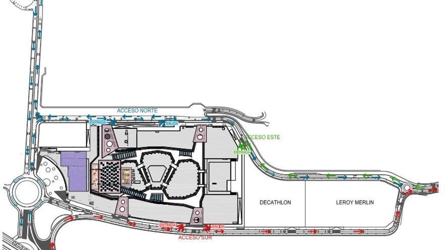 Mapa hecho por el Ayuntamiento de Las Palmas de Gran Canaria.