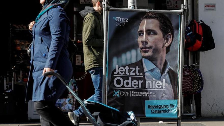 Cartel electoral del actual primer ministro austriaco, Sebastian Kurz