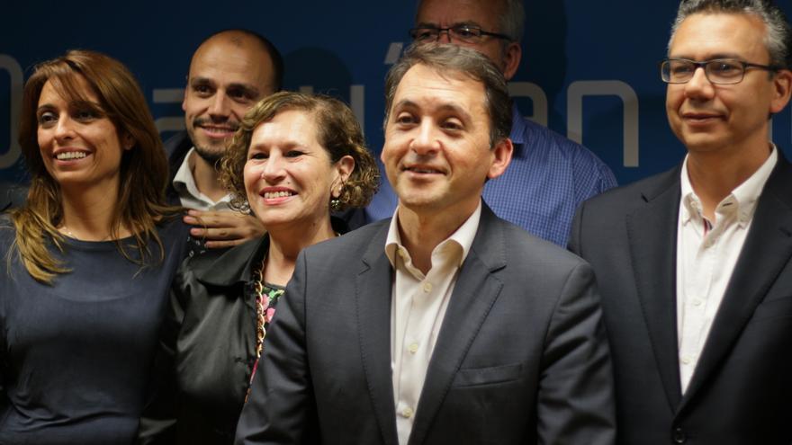 Bermúdez junto a Zamora y Arteaga, números dos y tres de su candidatura.