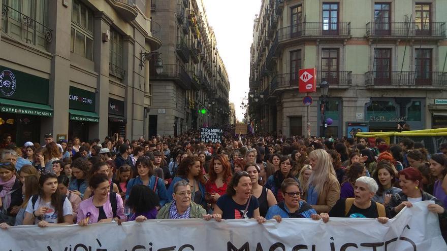 Manifestación en Barcelona contra la sentencia de 'la manada'