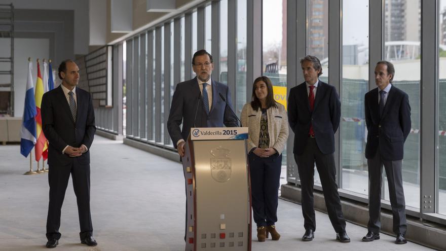 Mariano Rajoy durante su intervención ante los medio en el nuevo Hospital de Valdecilla.