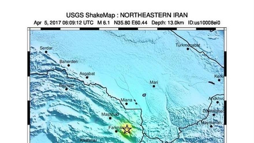 Un fuerte terremoto en el noreste de Irán causa al menos dos muertos