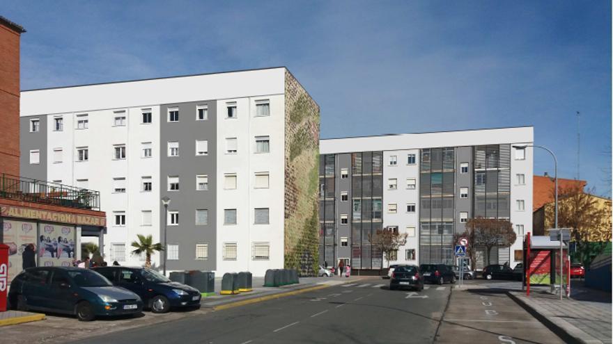 Ejemplo de intervención en edificios de Azuqueca. FOTO: Después