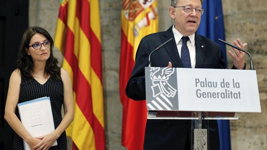 El president Ximo Puig i la vicepresidenta Mónica Oltra fan balanç del primer any del Govern del Botànic