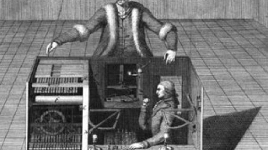 El 'mechanical turk' original era un falso robot que jugaba al ajedrez