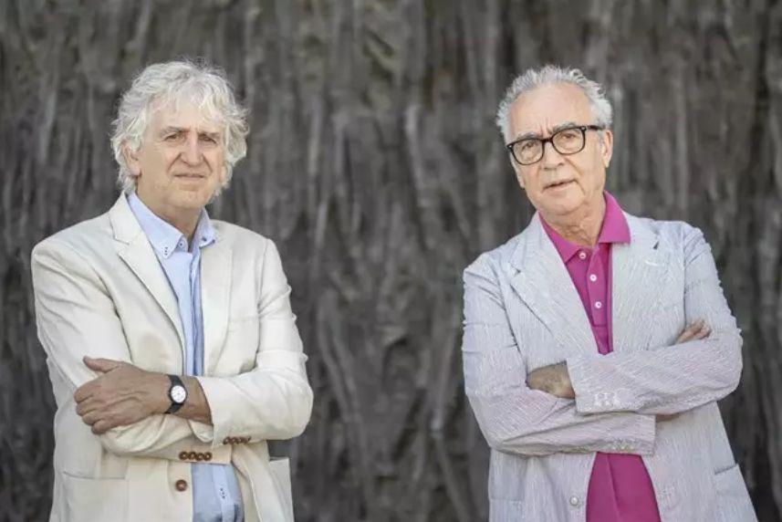 Juan Luis Arsuaga y Juan José Millás en Espacio Fundación Telefónica