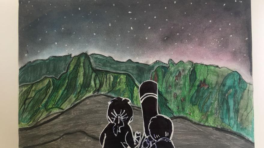Primer premio del concurso de dibujos Astrofest 2018. Autora: Valeria García Arriaga.