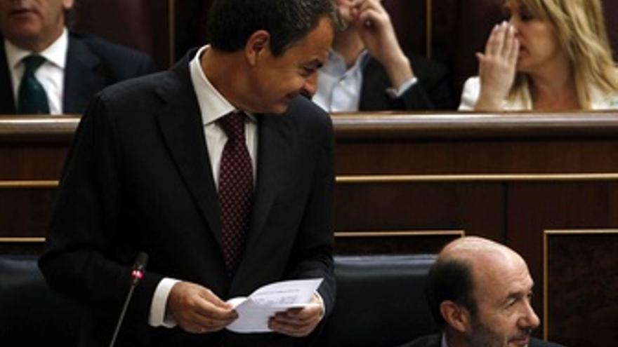 Zapatero Y Rubalcaba En El Hemiciclo
