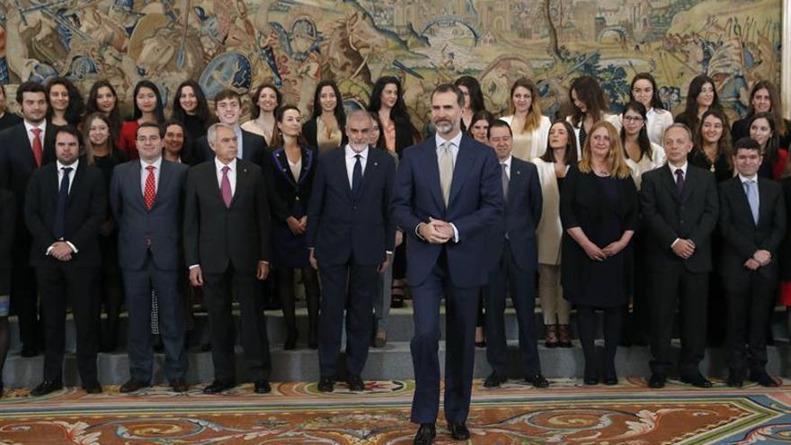 El Rey apoya la cooperación universitaria internacional que favorece el empleo