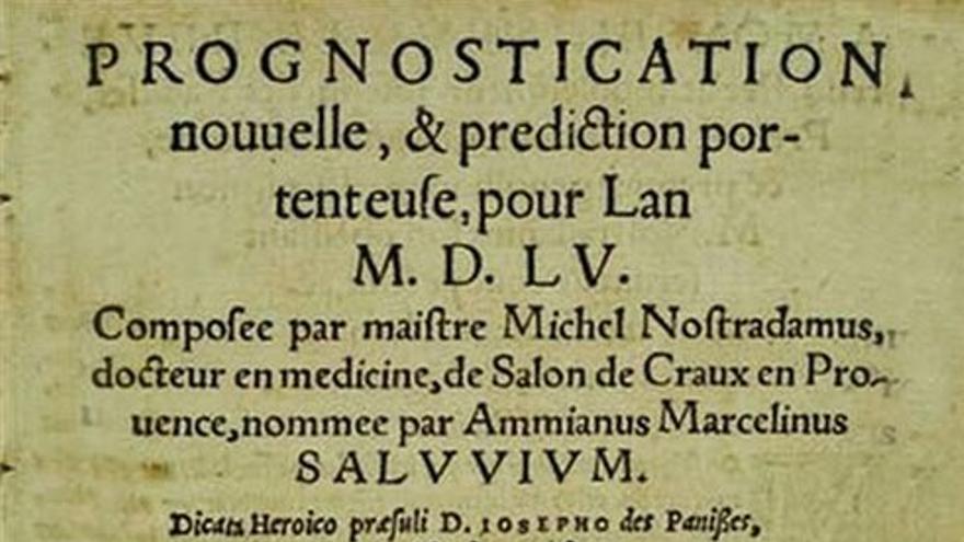 Página de un manuscrito de Nostradamus. (DP)