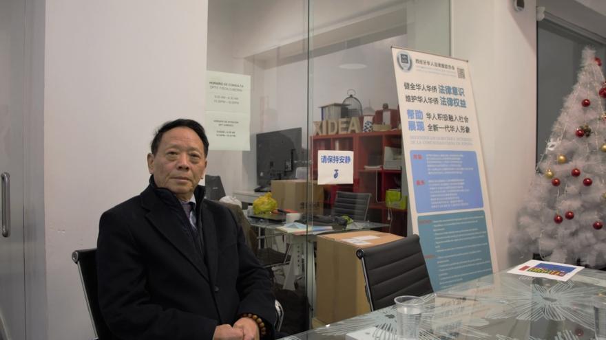 Xu Song Ling, presidente del Centro de Mayores Chinos de Usera