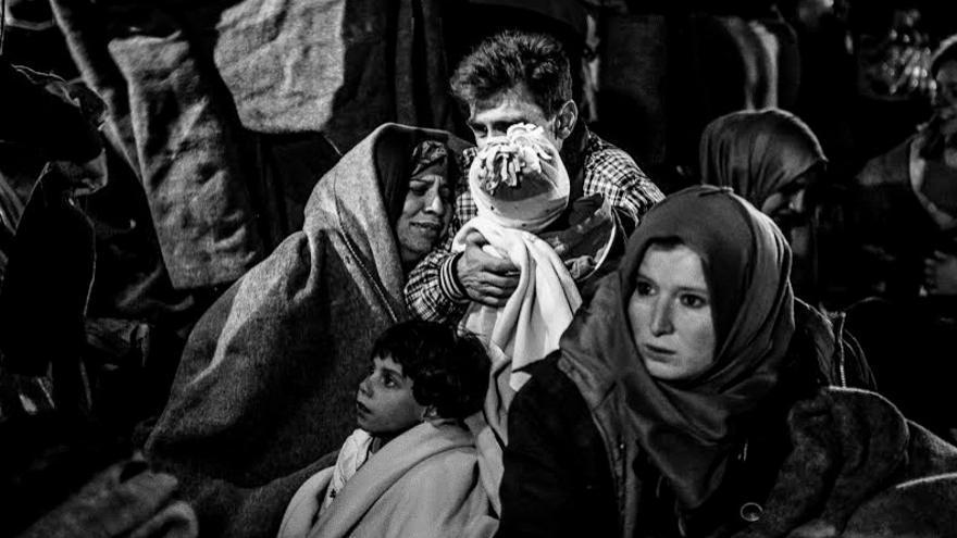 Nacida en Barcelona y afincada Badajoz, ha  captado con su cámara en el periplo por los campos de refugiados /