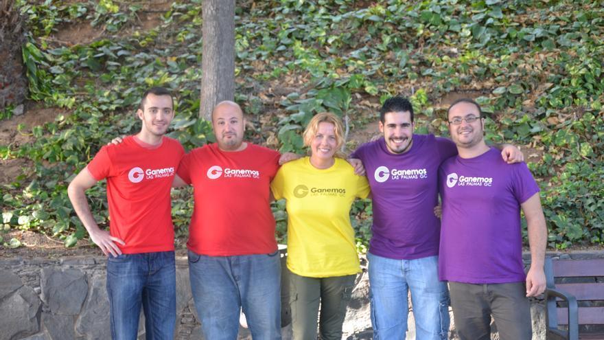 Miembros del grupo promotor de Ganemos Las Palmas de Gran Canaria. Ramsés/Canarias Ahora.