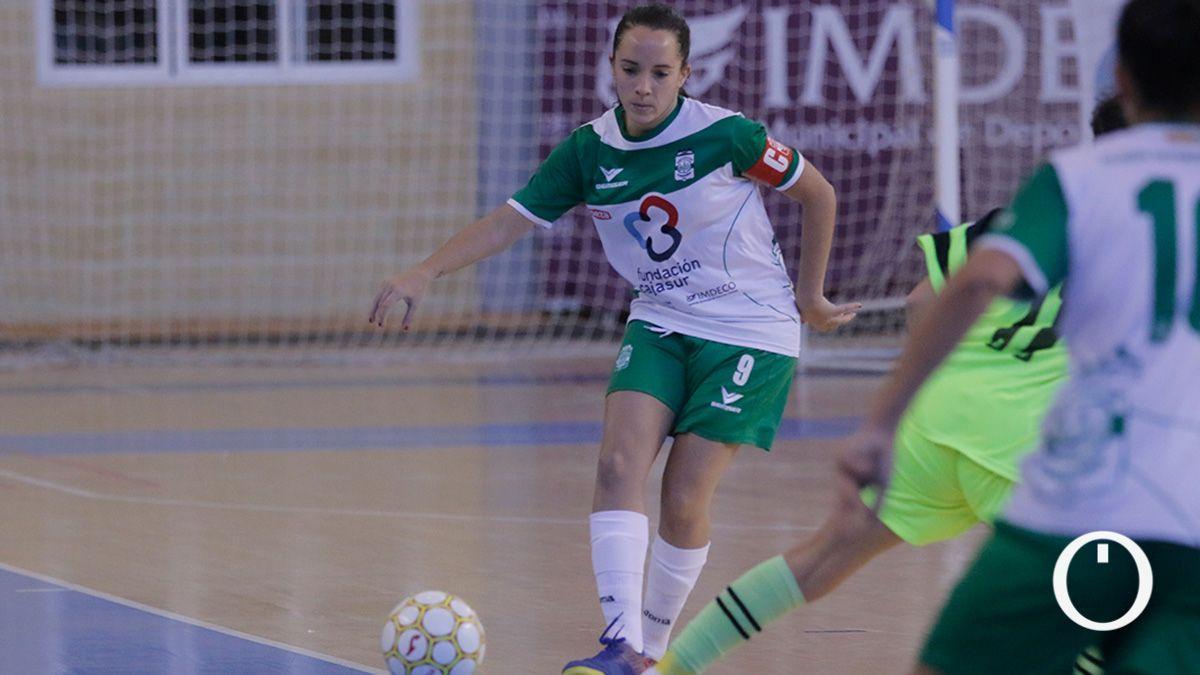 Marixu Romero, en un partido del Deportivo Córdoba