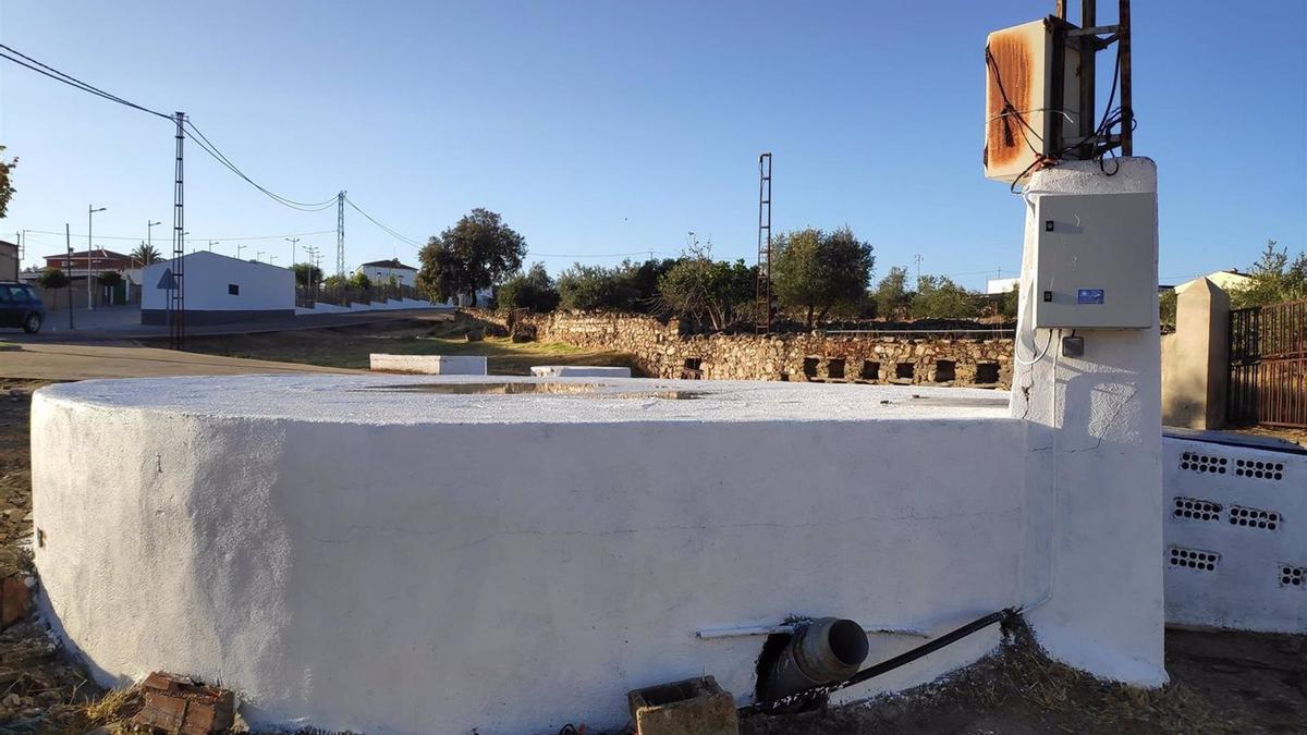 Uno de los pozos municipales en los que se ha implantado el automatismo de control con ayuda de la Diputación de Córdoba.
