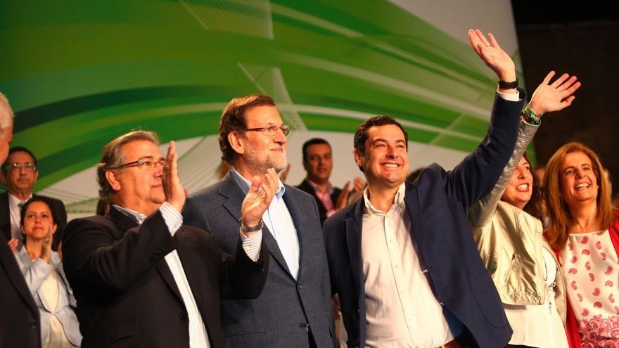Moreno (PP-A) recorre más de 7.000 kilómetros en una campaña marcada por la amplia presencia de Rajoy