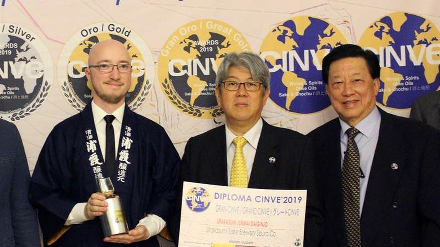 La bodega japonesa Urakasumi recibe el gran trofeo de saké en los premios CINVE