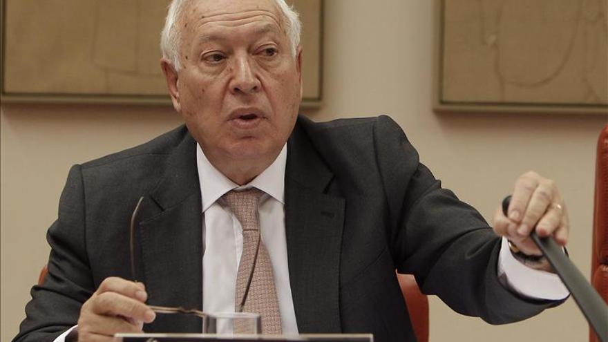 El ministro de Exteriores, García-Margallo en la Comisión de Exteriores.