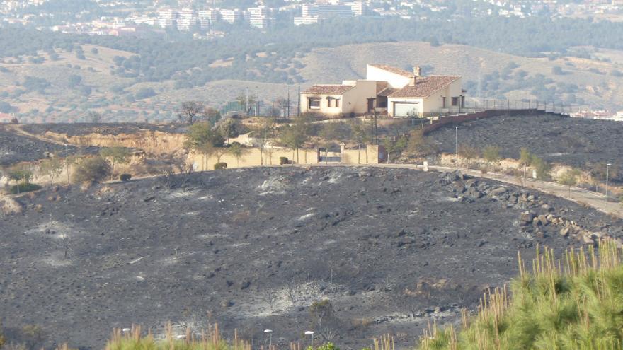 Imagen de una de las zonas afectadas por el incendio de Toledo / Ecologistas en Acción Toledo