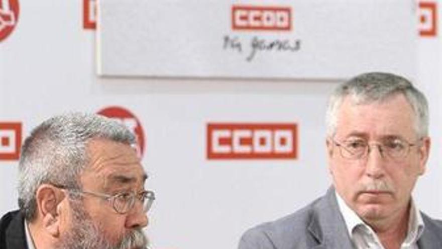 Méndez y Toxo en una reunión entre ambos sindicatos. (EUROPA PRESS)