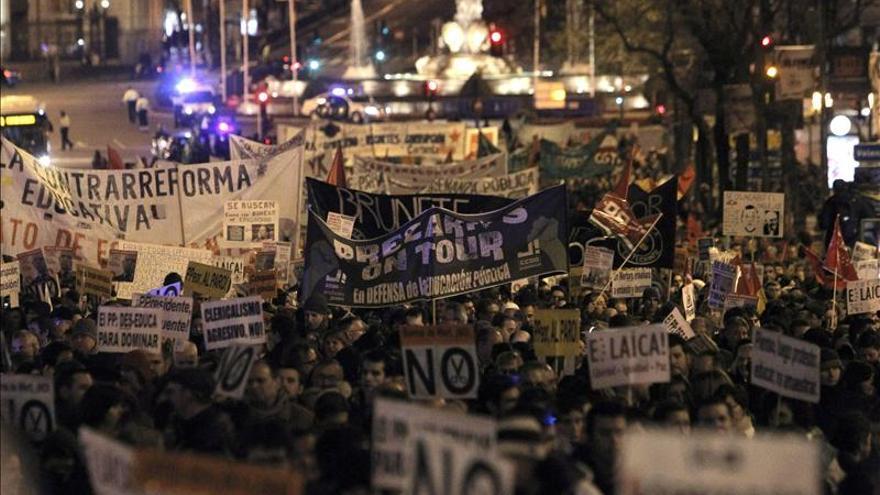 """Manifestaciones en toda España culminan una """"semana de lucha"""" contra la Lomce"""