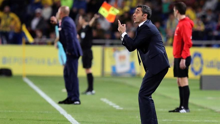 Ernesto Valverde, en el Estadio de Gran Canaria. (EFE/ QUIQUE CURBELO)