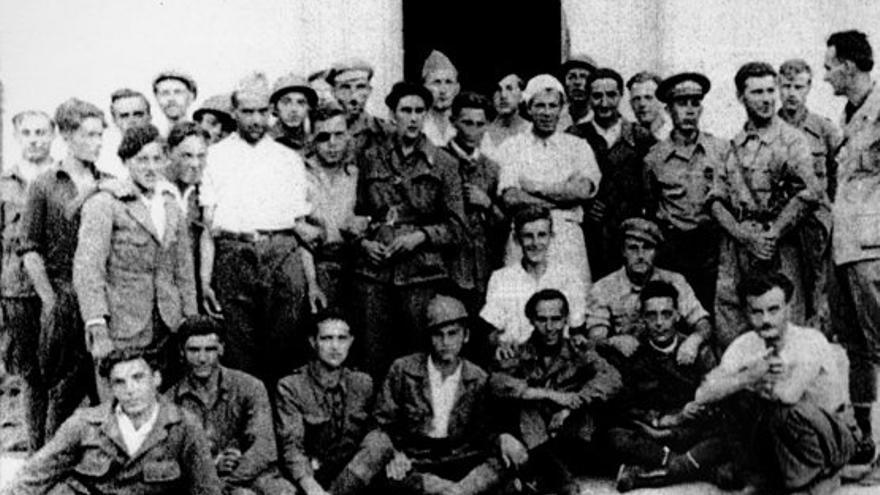Brigadistas austriacos en la localidad albaceteña de Madrigueras / Memòria Repressió Franquista