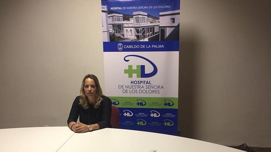 Susana Machín, consejera de Sanidad del Cabildo de La Palma.