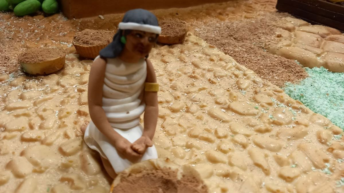 Figura del Belén de Chocolate de este año.