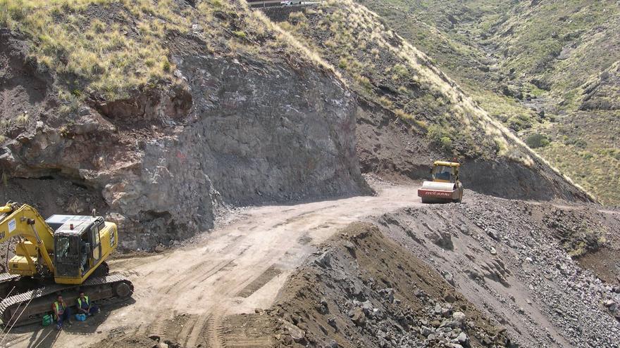 Obras en la carretera de La Aldea (FORO ROQUE ALDEANO)