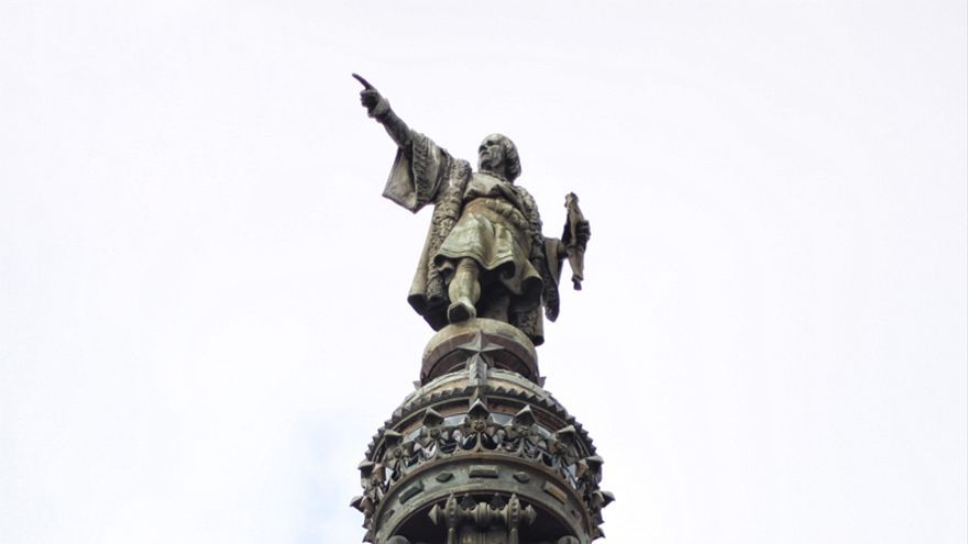 Cristóbal Colón en Barcelona.