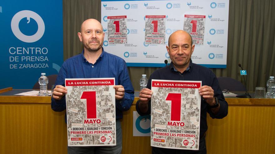 Manuel Pina (CCOO) y Daniel Alastuey (UGT)