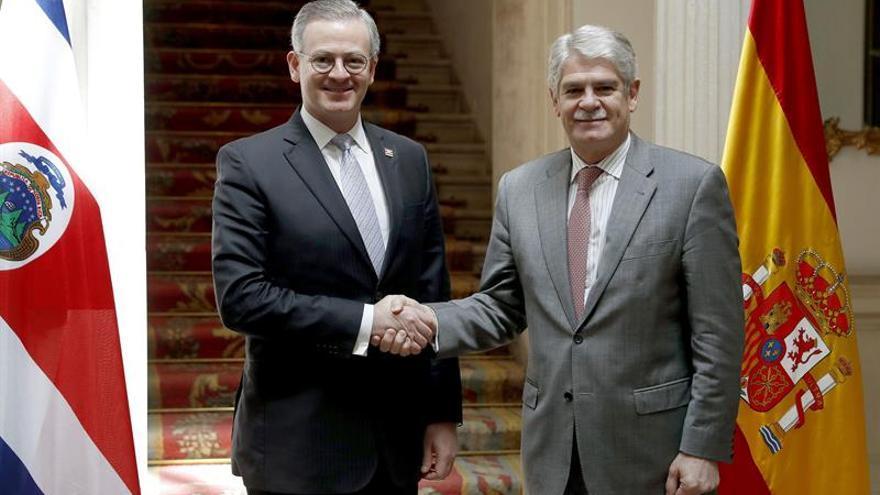 """España y Costa Rica constatan el """"excelente momento"""" de sus relaciones"""