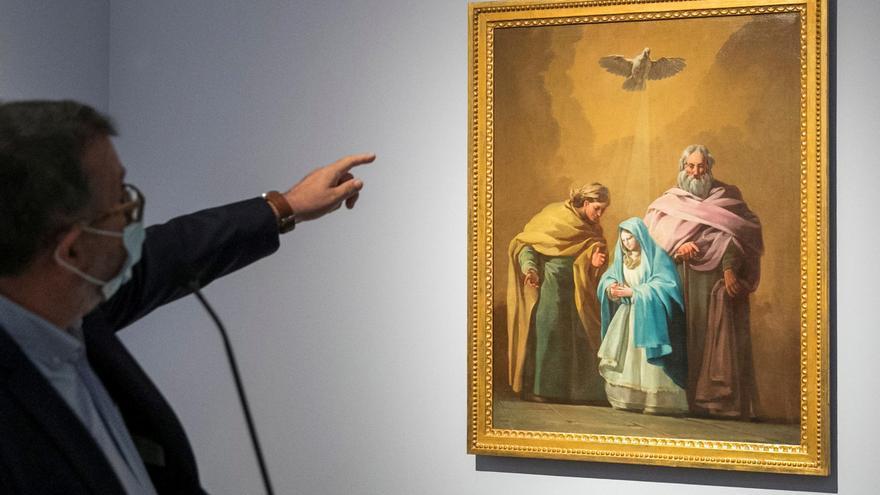 """""""La Virgen con San Joaquín y Santa Ana"""", un nuevo Goya en el Museo de Zaragoza"""