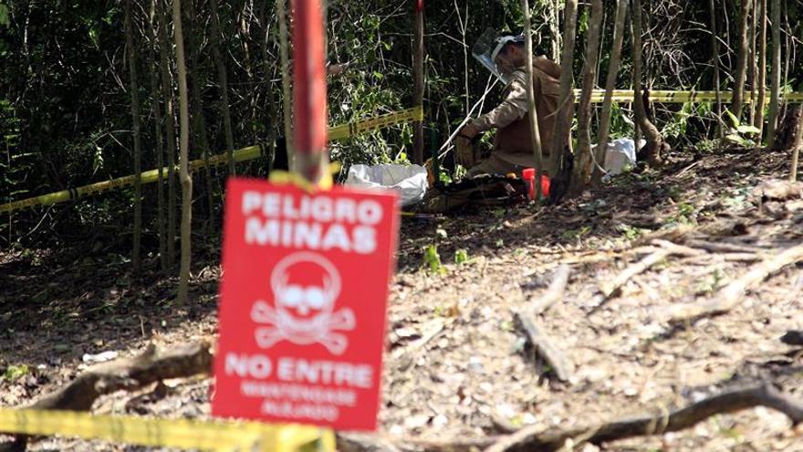 El desminado humanitario avanza en Colombia para cumplir la meta de 2021