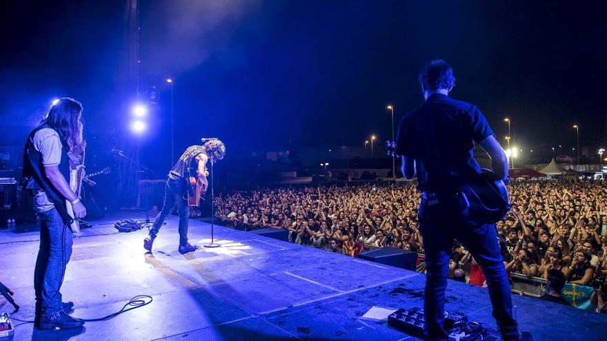 Concierto de Rulo y La Contrabanda durante la pasada edición de Rock en la Feria. | EL REY LAGARGÓN