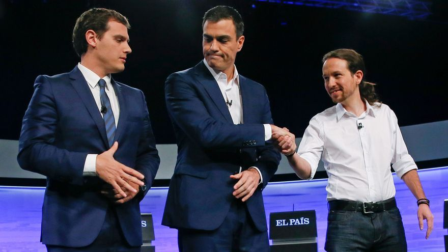 Pedro Sánchez y Pablo Iglesias. FOTO: JuanJo Martin/EFE