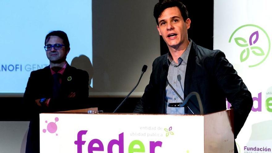 Christian Gálvez, durante su discurso en el acto organizado por FEDER