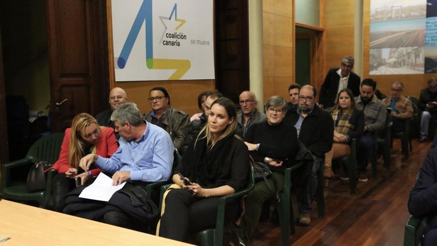 María Fernández durante la reunión del Comité Político de Coalición Canaria este jueves.