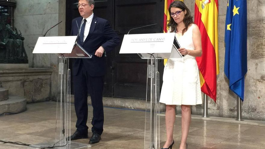 El president Ximo Puig y la vicepresidenta Mónica Oltra hacen balance de los dos primeros años del Consell del Botànic