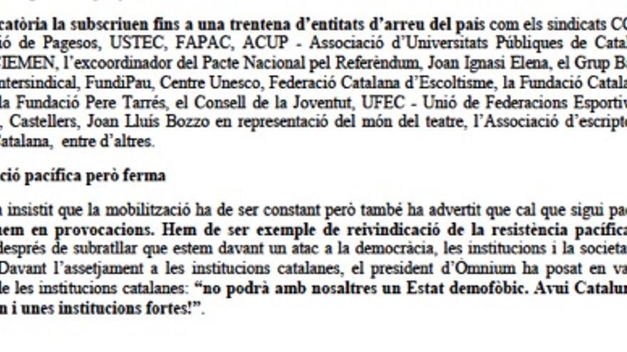 Correo de Jordi Cuixart analizado por la Guardia Civil