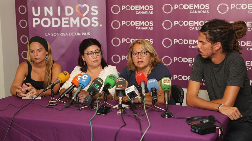 Noemí Santana, Carmen Valido, Meri Pita y Alberto Rodríguez