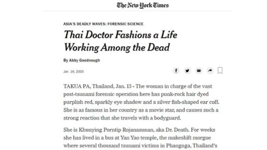 Pieza de The New York Times