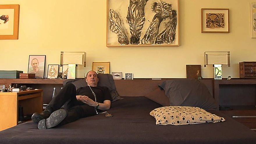 Gay Mercader en su casa de campo de Girona