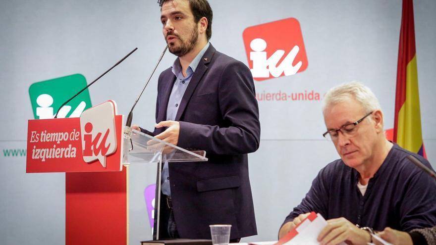 Alberto Garzón y Cayo Lara en el Consejo Político Federal de IU. / IU