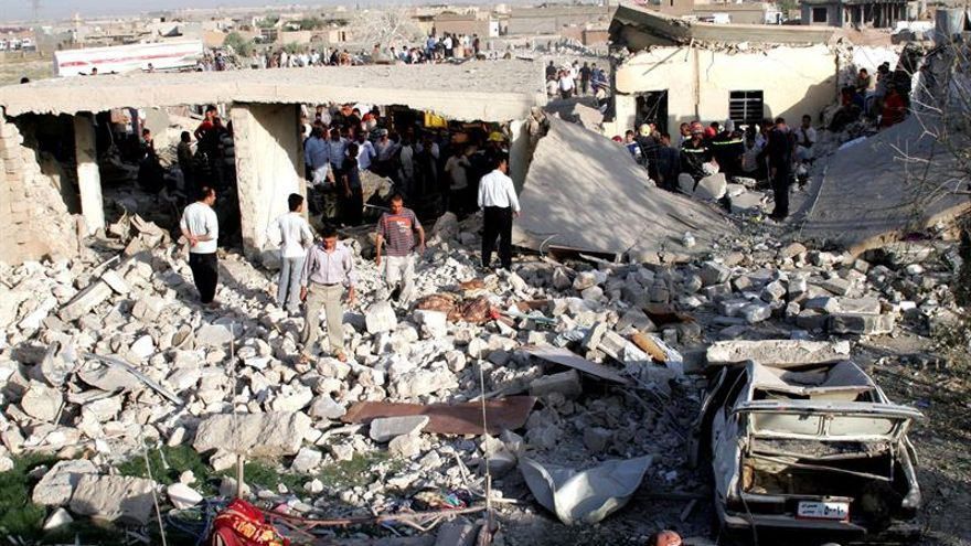 La coalición internacional destruye una fábrica de armas químicas del EI en Mosul
