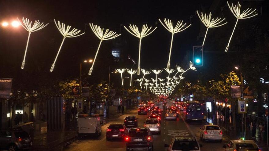 Madrid ya viste la luz de la Navidad