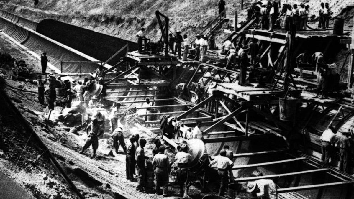 El 'canal de los presos', construido con mano de obra esclava.